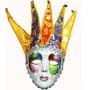 Mascara De Arlequín Fiesta Cascabeles Antifaz Halloween
