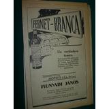 2 Publicidad Antiguas Clipping Bebidas Fernet Branca Botella