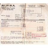 Zunsa Zuntini Compra De Heladera Siam Año 1955- Factura 256