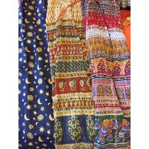 Polleras Coloridas De Seda Y Algodón Tipo Hindu
