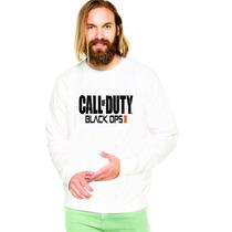 Blusa Moleton Call Of Duty Black Ops 2 Branco