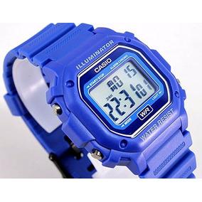 Reloj Casio Unisex F-108wh-2acf Digital Display Blue Watch 2