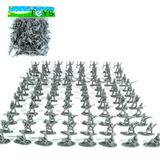 100 Bonecos Soldadinhos Do Exército 3 Cm - A Pronta Entrega