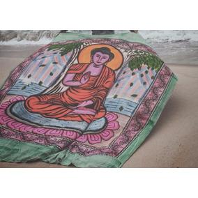 Colcha Indiana Buda Pintada A Mão