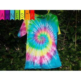 Remera Multicolor L - Amnesia Gesell / Hippie Batik Tie Dye