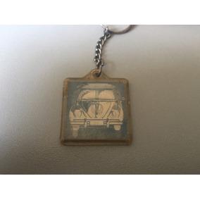 Vw Fusca E Kombi Chaveiro Holográfico Antigo Coleção Raro