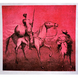 Romanelli - Dom Quixote E Sancho Pança - Gravura 50x45cm