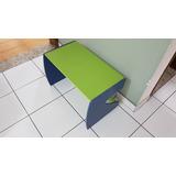 Mesa Escrivaninha De Madeira Infantil Verde E Azul