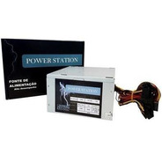 Fonte Atx 500 Watts Power Station Ft500wps
