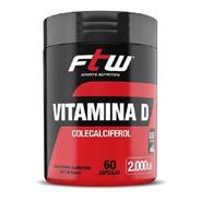 Vitamina D Colecalciferol 60 Capsulas 2000 Ui - Ftw