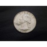 Moneda Estados Unidos 25 Cents De Dollar 1964 Plata (982z