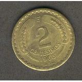 Moneda 2 Centesimos Año 1966