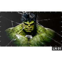 Hulk Vingadores Painel 3m² Lona Festa Banner Aniversários