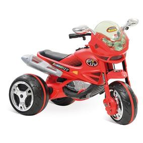 Motinho Elétrica Infantil Super Moto Gt2 Turbo Vermelha 12v