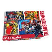 4 Puzzles Rompecabezas Transformers Optimus Bumblebee