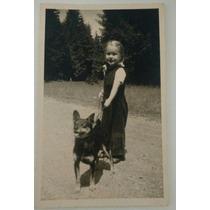 Linda Foto Antiga Alemã ( Menina E Cachorrinho)