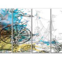 Marine Background Illustration Art , Animal Canvas Print, 4