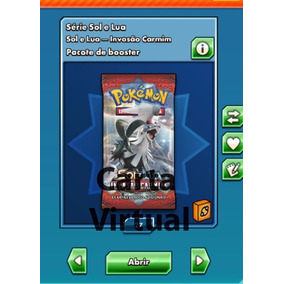 Oferta !! Booster Online Sm4 Crimson Invasion 11- Cartas