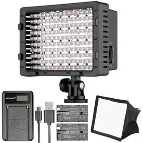 Lampara 160 Leds 2 Baterias Difusor Dslr Sony Canon Nikon