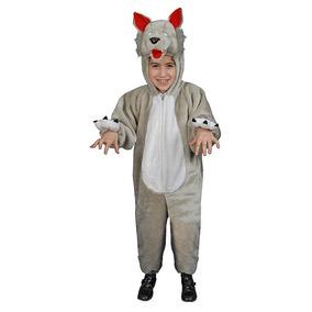 Disfraz Lobo Para Niño Niña Talla 4-6 Años Importado