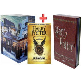 Livro Box Harry Potter 7 Volumes + 8 + Guia Cinematografico
