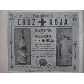 Publicidad Antigua Agua Mineral Cruz Roja 1912