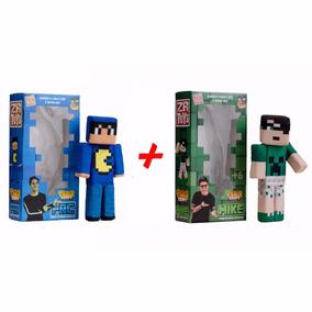 Kit Bonecos Tazer Craft Pac E Mike - Zr Toys