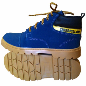 Bota Coturno Infantil Caterpillar Couro Cat Steel Toe