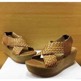 b8cf6618bbc Plataforma Taco De Corcho Color Camel Zapatos Y Sandalias ...