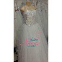Vestido De Noiva Debutante Princesa P Pronta Entrega Novo