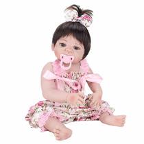 Boneca Bebe Reborn Real Toda Em Silicone Frete Grátis