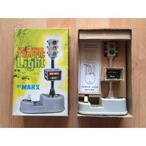 Semáforo Traffic Light By Marx Vintage Con Caja 1960 .
