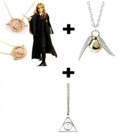 Paquete Collares Harry Potter: Giratiempo, Snitch, Reliquias