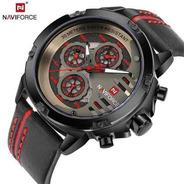 Reloj Hombre Naviforce De Lujo Militar Deportivo Análogo