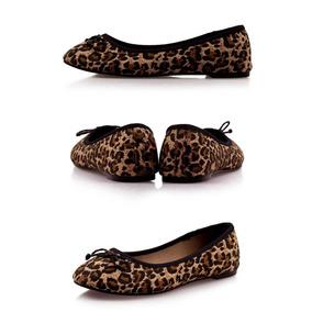 Zapatos Ballerinas Chinitas Mujer Leopardo Numero 37 - 38
