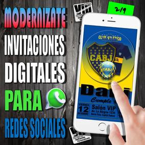 Invitacion Digital | 219 | Cumpleaños | Boca Juniors Cabj