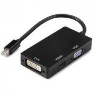 Puntotecno - Adaptador Mini Display Port (dp) A Vga-dvi-hdmi