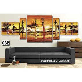 Cuadro Moderno 182x80 Cm Decorativo Paisajes Africano Living