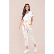 Calça Feminina Jogger Malha Tie Dye Com Elástico Blogueira