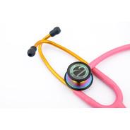 Estetoscópio Inox Duplo Adulto Infantil Black Rainbow Bic
