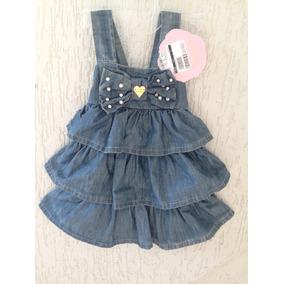 Vestido Infantil Jeans Pituchinhos