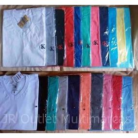 Kit 20 Camisa Camiseta Gola V Roupa Masculina Revenda