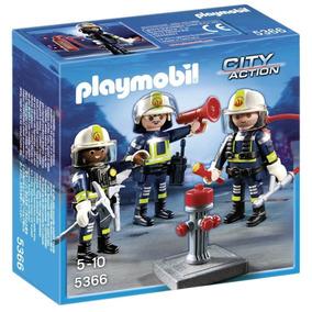 Retromex Playmobil 5366 Equipo De Bomberos Ciudad Fuego