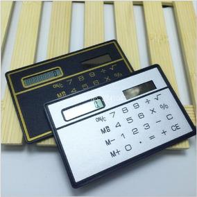 Calculadora Energia Solar Miniatura Bolsa Cartão S/ Bateria