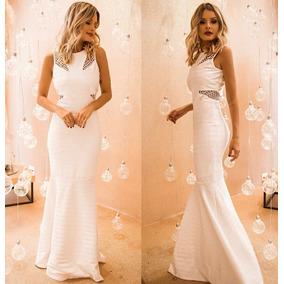 Vestido Longo Sereia Bandagem Madrinha Casamento