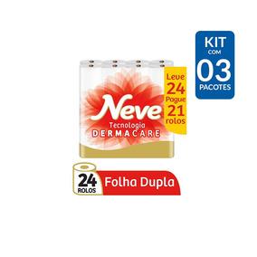 Kit Papel Higiênico Neve Compacto Dermacare - 72 Rolos