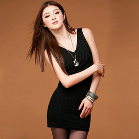 Mini Vestido Dama Casual Sencillo Tirantes Entallado Sensual