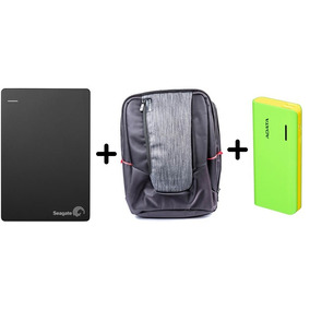 Combo Disco Duro Externo Seagate 1tb + Backpack+ Power Bank