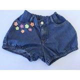 Short Jeans Infantil Alphabeto Girls Tam.8a