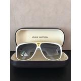 Óculos Sol Masculino Louis Vuitton Branco Evidence Original